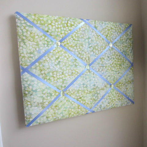 "16""x20"" Memory Board or Bow Holder-Coffee Bean Moss Batik - Hold It!"