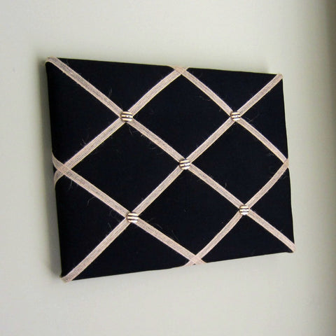 "11""x14"" Memory Board or Bow Holder-Black & Burlap - Hold It!"