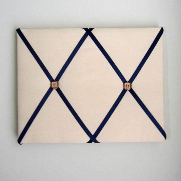 "11""x14"" Memory Board or Bow Holder-Tan & Navy Blue - Hold It!"
