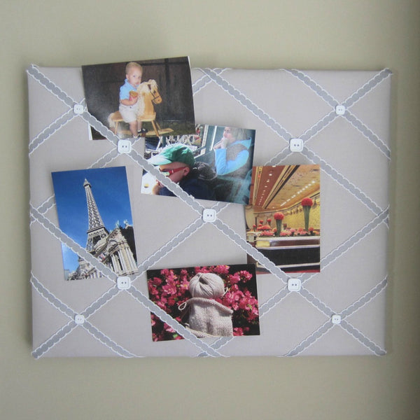 "16""x20"" Memory Board or Bow Holder-Ash Grey & Silver - Hold It!"