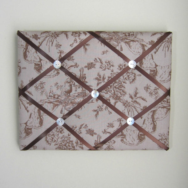 "11""x14"" Memory Board or Bow Holder-Madame Butterfly Tan Toile"