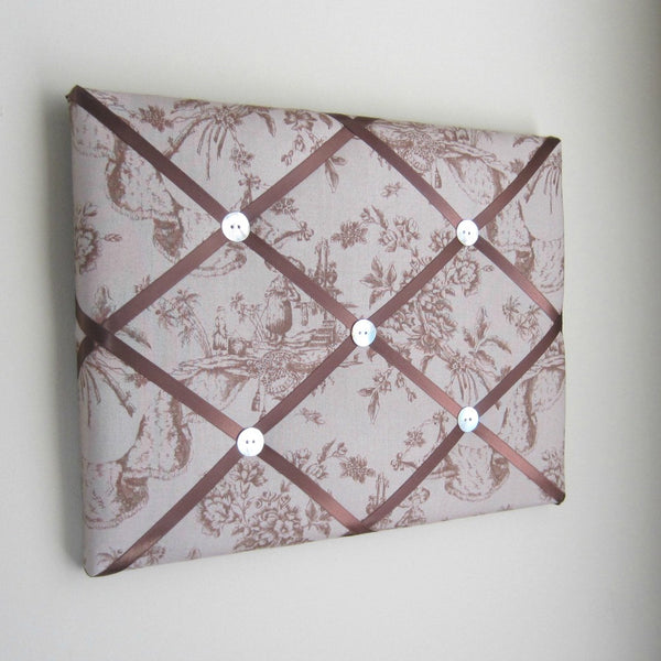 "11""x14"" Memory Board or Bow Holder-Madame Butterfly Tan Toile - Hold It!"