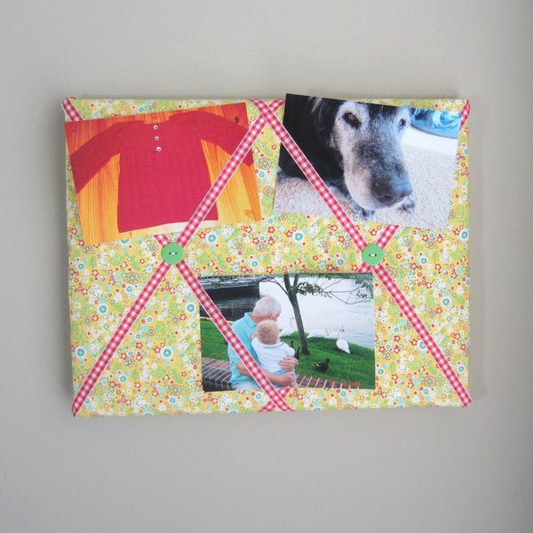 "11""x14"" Memory Board or Bow Holder-Yellow Sunflower"