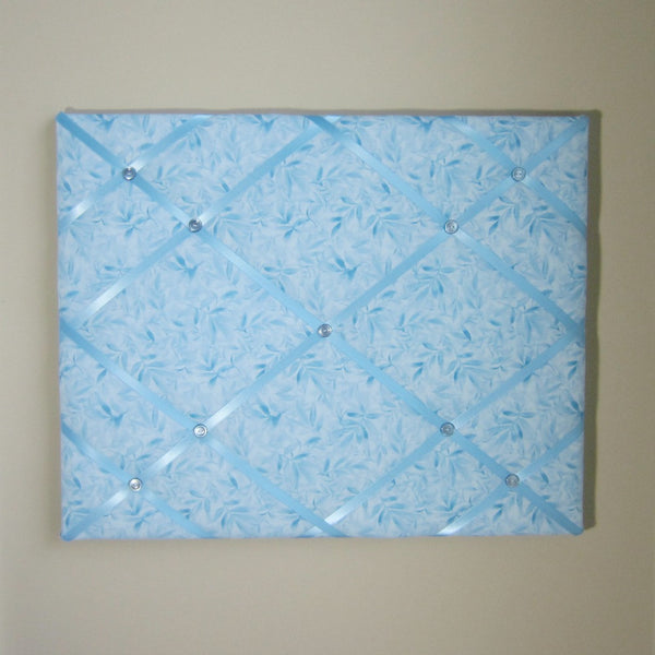 "16""x20"" Memory Board or Bow Holder-Wildflower Blue Batik"