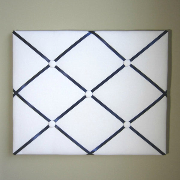 "16""x20"" Memory Board or Bow Holder-White & Navy Blue"