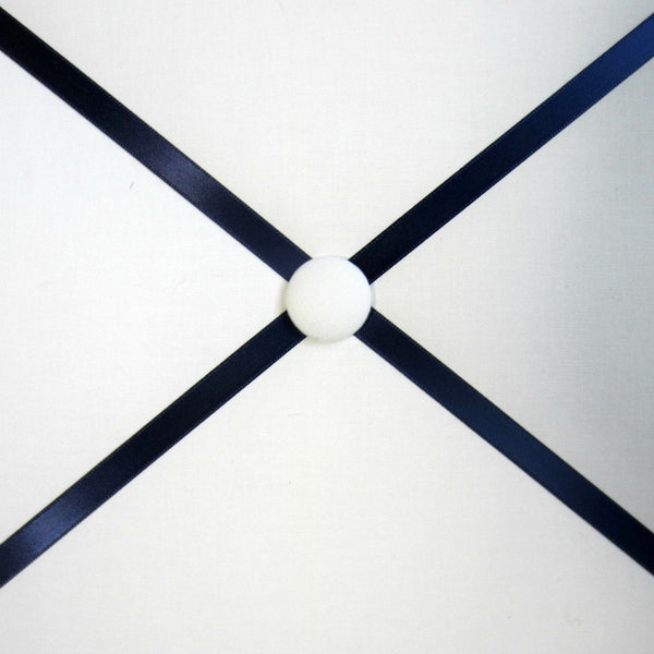 "11""x14"" Memory Board or Bow Holder-White & Navy Blue"