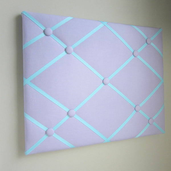 "16""x20"" Memory Board or Bow Holder-Lavender & Turquoise - Hold It!"