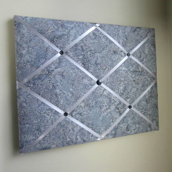 "11""x14"" Memory Board or Bow Holder-Silver Rain Batik"