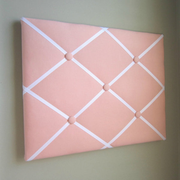 "16""x20"" Memory Board or Bow Holder-Peach & White"