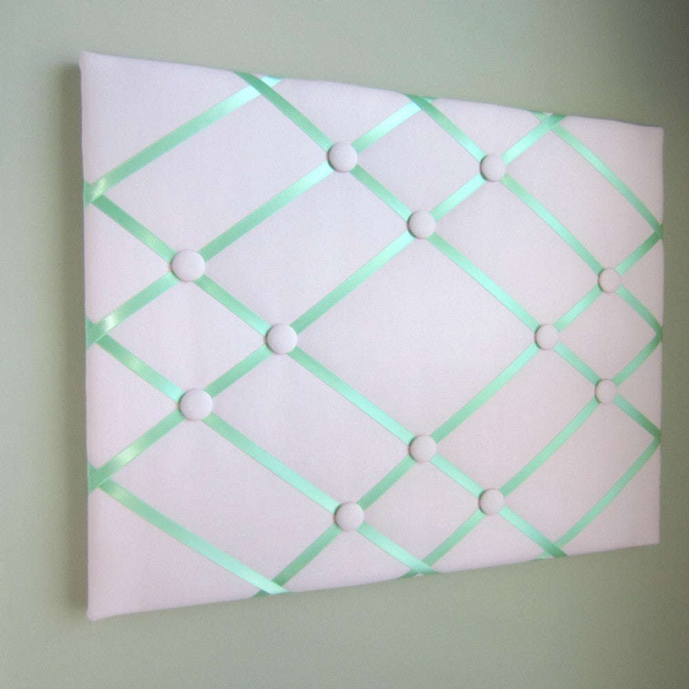 "16""x20"" Memory Board or Bow Holder-Pink & Mint Green - Hold It!"