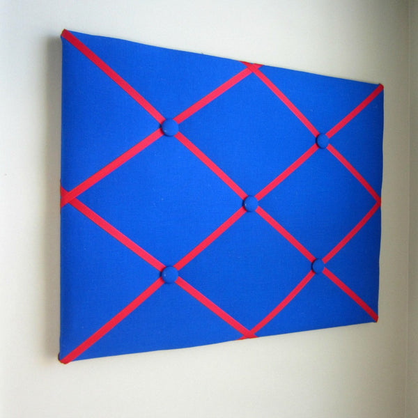 "16""x20"" Memory Board or Bow Holder-Royal Blue & Red - Hold It!"