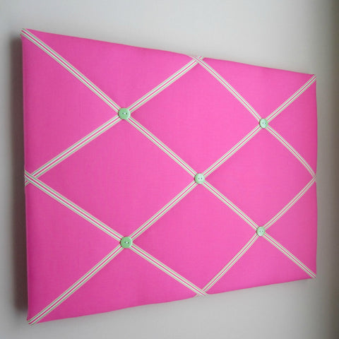 "16""x20"" Memory Board or Bow Holder-Hot Pink Preppy - Hold It!"