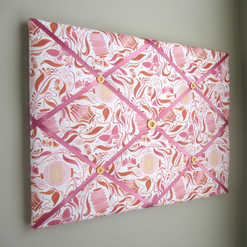 "16""x20"" Memory Board or Bow Holder-Pink Paper Lantern - Hold It!"