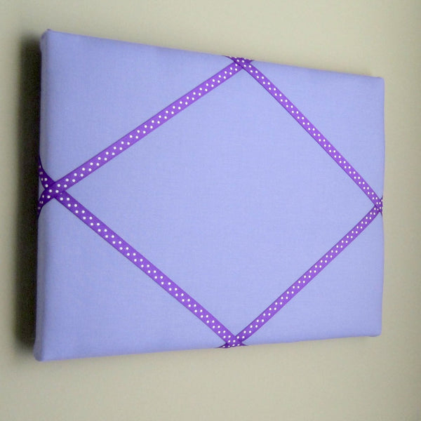 "11""x14"" Memory Board or Bow Holder-Lilac & Purple Polka Dot - Hold It!"