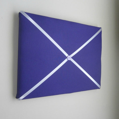 "11""x14"" Memory Board or Bow Holder-Purple & Silver - Hold It!"