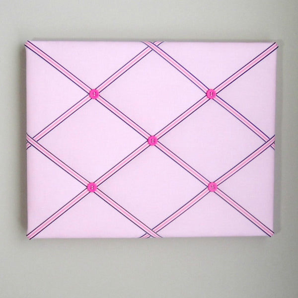 "11""x14"" Memory Board or Bow Holder-Pink & Navy Blue Preppy - Hold It!"