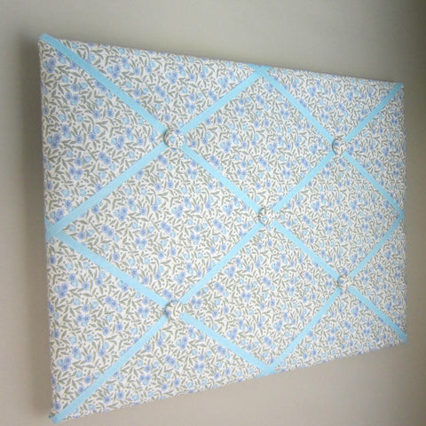 "16""x20"" Memory Board or Bow Holder-Blue Floral - Hold It!"