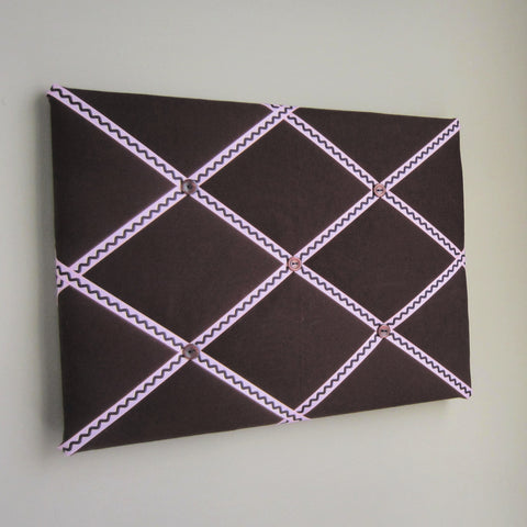 "11""x14"" Memory Board or Bow Holder-Brown & Pink - Hold It!"