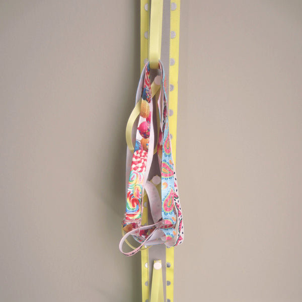 Yellow & Grey Polka Dot Ponytail Elastic Organizer - Hold It!