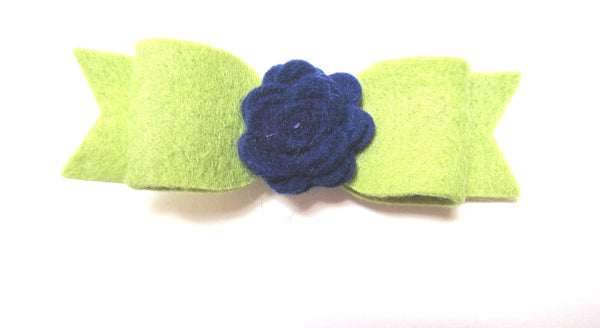 Felt rose & bow hair clip-8 colors to choose from - Hold It!
