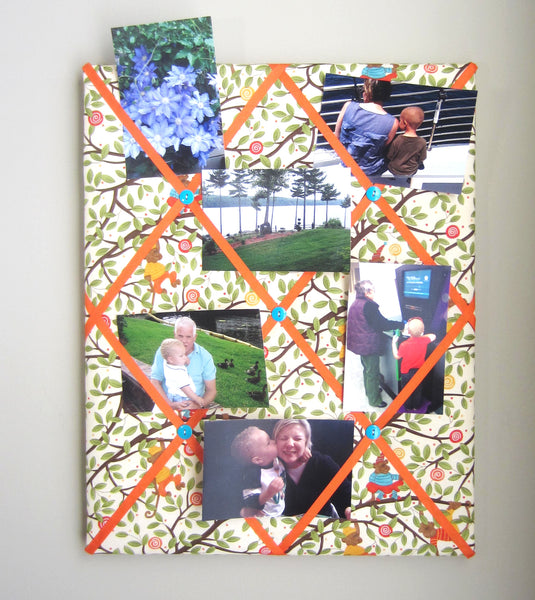 "16""x20""  Memory Board or Bow Holder-Monkeying Around - Hold It!"