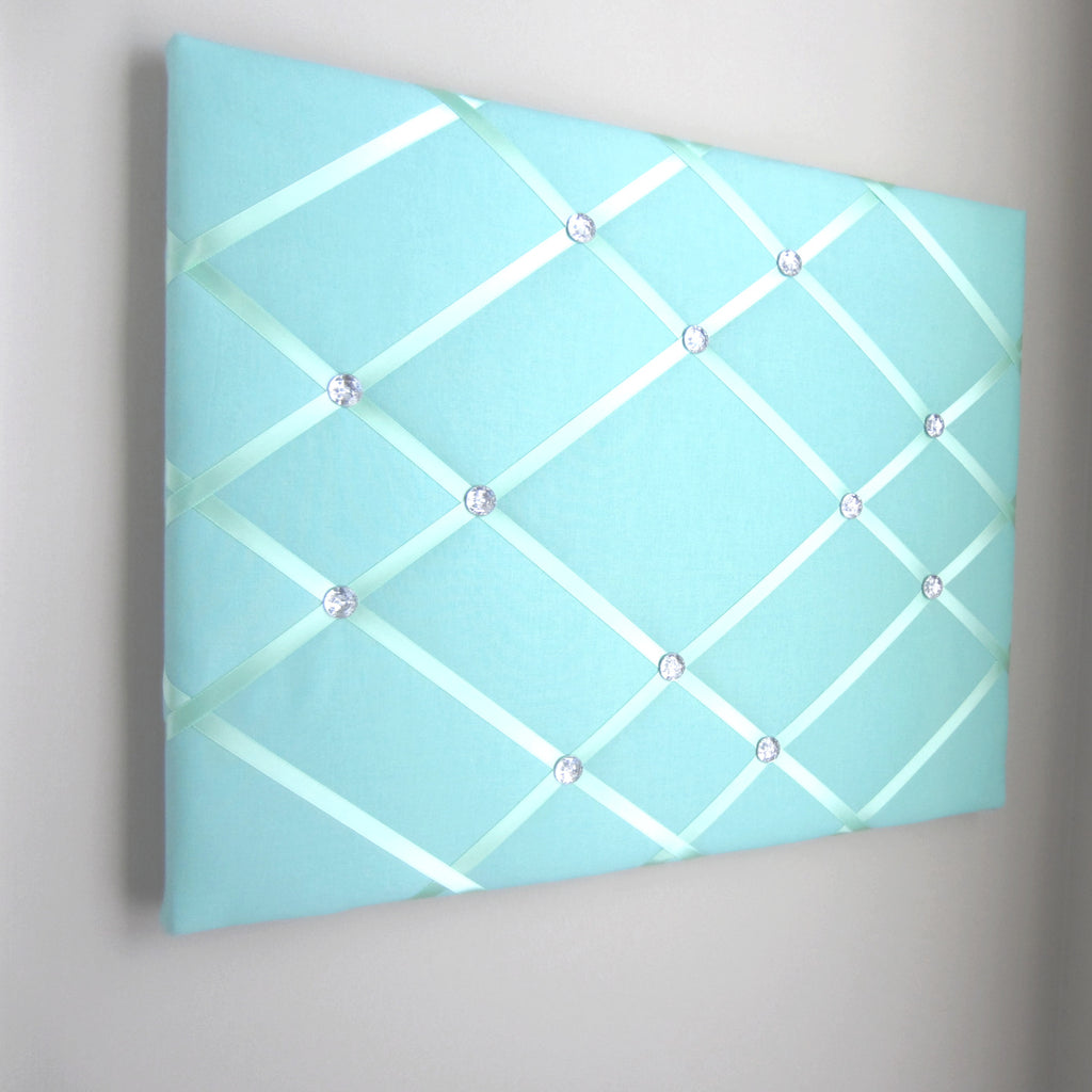 "16""x20"" Memory Board or Bow Holder-Aloe & Mint Green - Hold It!"