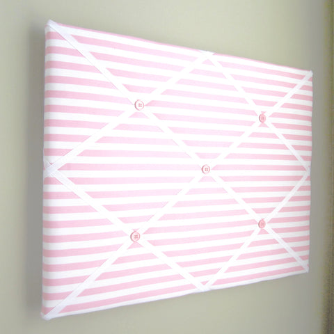 "16""x20""  Memory Board or Bow Holder-Pink & White Stripe - Hold It!"