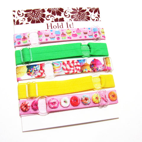 Set of 5 Adjustable Headbands - Sweet Treats - Hold It!