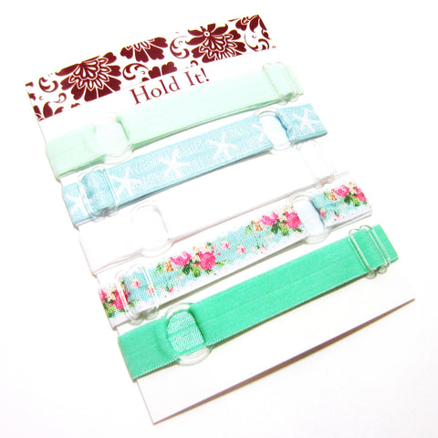 Set of 5 Adjustable Headbands - Mint Green Starfish - Hold It!