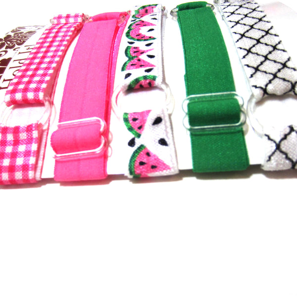 Set of 5 Adjustable Headbands - Watermelon - Hold It!
