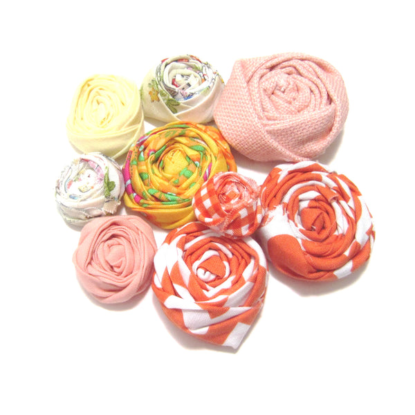 Rolled Fabric Flowers to be Used For Your Own Creations - Hold It!