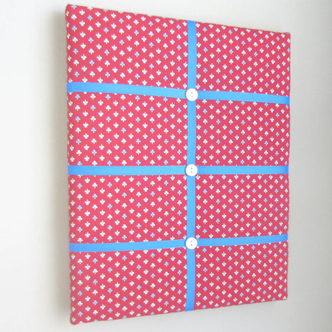 "11""x14""  Memory Board or Bow Holder-Red Ticking"