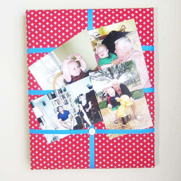 "11""x14""  Memory Board or Bow Holder-Red Ticking - Hold It!"