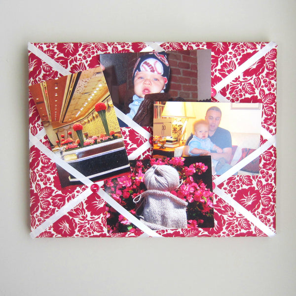 "11""x14"" Memory Board or Bow Holder-Berry Floral"
