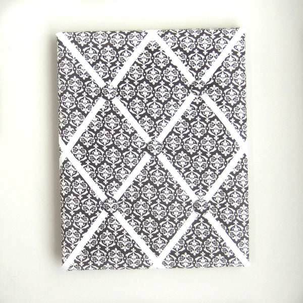 "11""x14"" Memory Board or Bow Holder-Brown & Cream Damask"