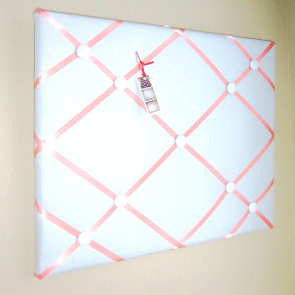 "16""x20"" Memory Board or Bow Holder-Baby Blue & Coral"