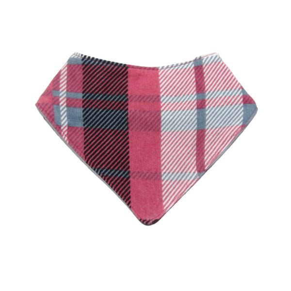 Red, Gray, Black Plaid Bandana Baby Bib