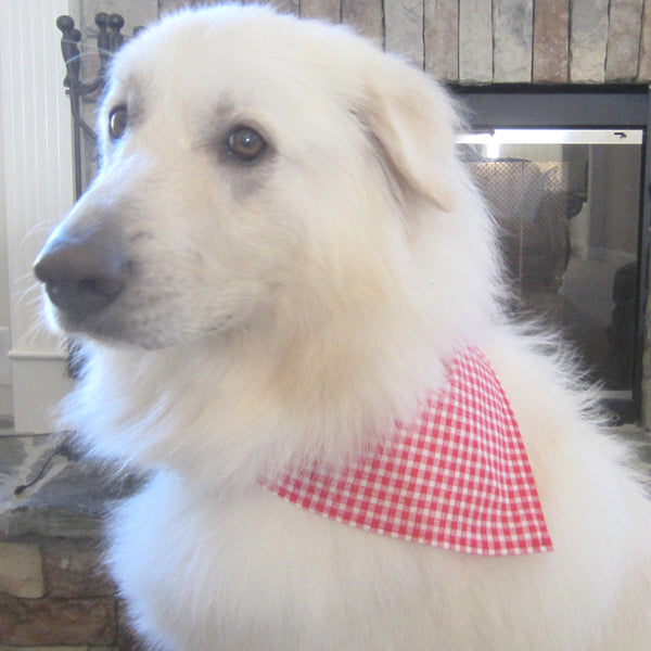 Pink Geometric Pet Bandana-4 Sizes Fits Over Collar