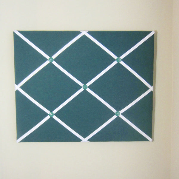 "16""x20"" Memory Board or Bow Holder-Hunter Green & White"