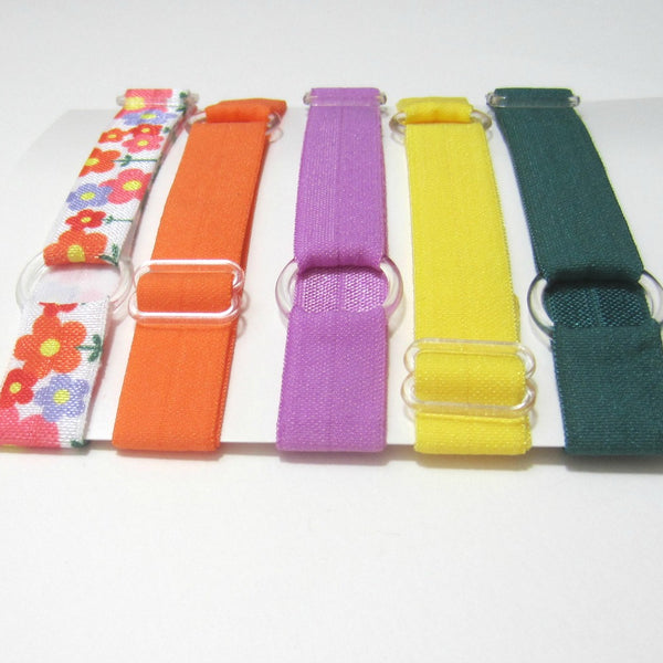 Adjustable Elastic Headband-Set of 5 Multi Floral - Hold It!