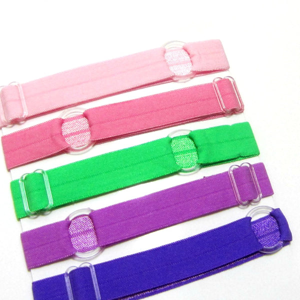 Adjustable Elastic Headband-Set of 5 Pink, Green & Purple - Hold It!