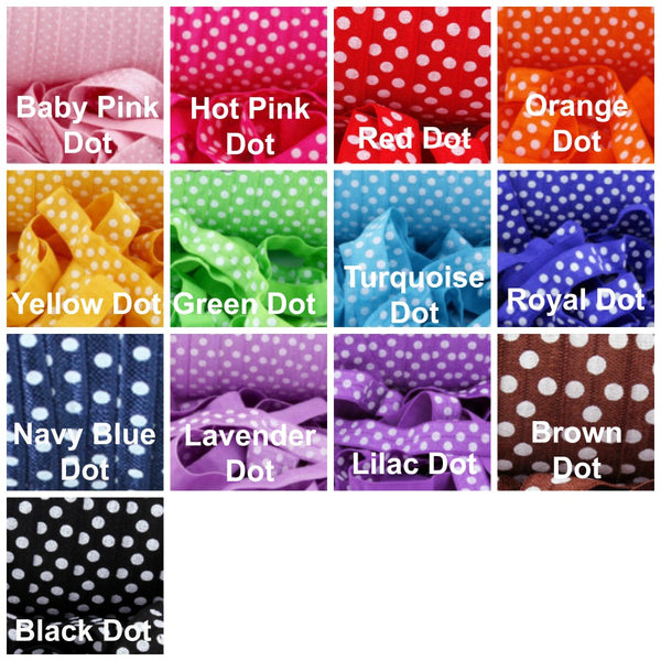 Polka Dots-Individual Adjustable Headband -Choose Your Own Colors! - Hold It!