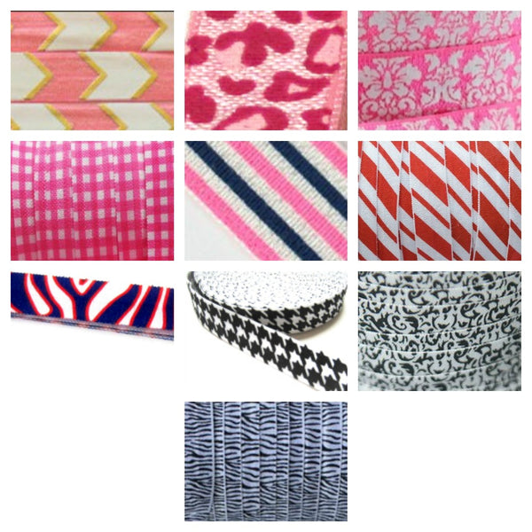 Assorted Prints-Individual Adjustable Headband -Choose Your Own Colors! - Hold It!