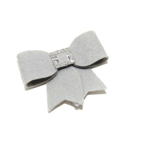 Felt and Rhinestone Bow Hair Clip - Hold It!