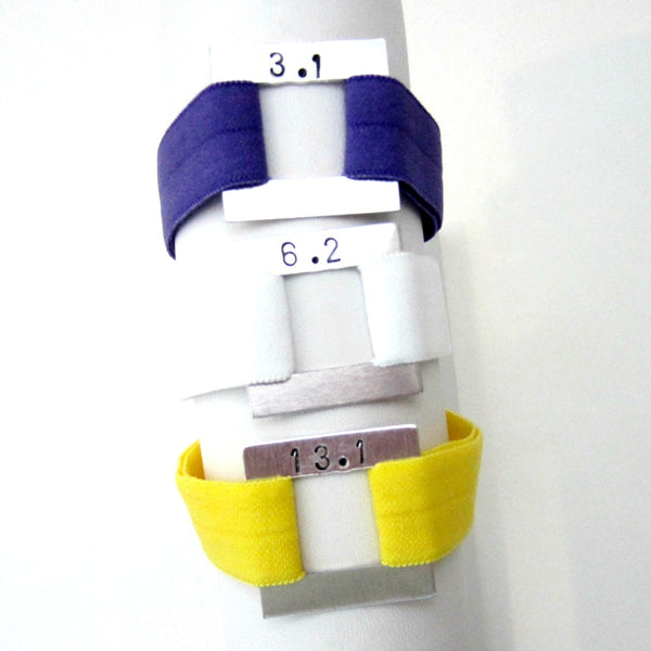Distance Bracelet - Solid Colors - Pick Your Distance and Color! - Hold It!