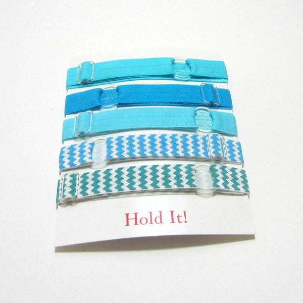 Adjustable Elastic Headband-Set of 5 Turquoise - Hold It!
