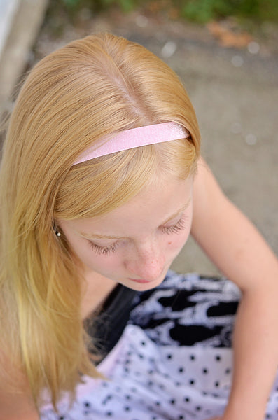 Adjustable Elastic Headband-Set of 4 Pinks Frost Glitter - Hold It!