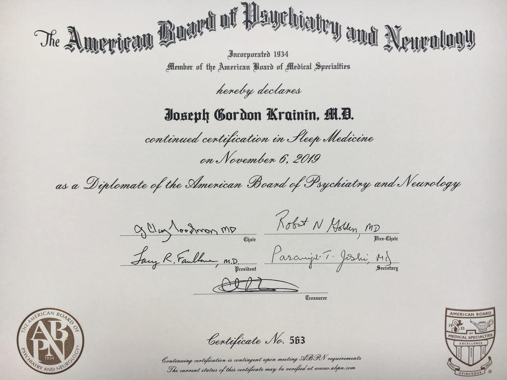 sleep medicine board certification