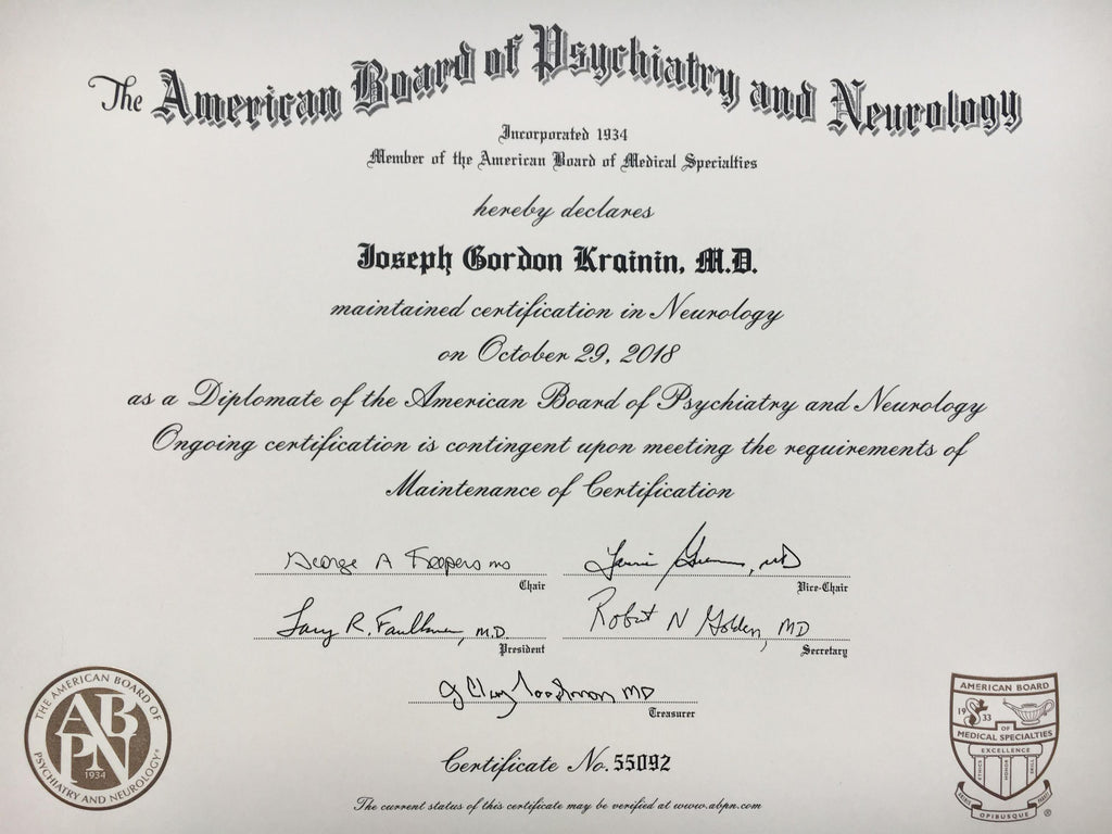 neurology board certification