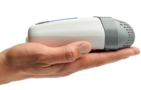 z1 cpap held in palm of hand - Cpap Machine Reviews